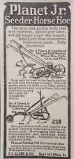 1915 AD(XE18)~S.I. ALLEN & CO. PHIL., PA. PLANET JR. NO.4 SEEDER, HORSE HOE