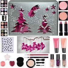 Adventskalender Kosmetik gefüllt Satin Säckchen Make up Schminke Frauen pink