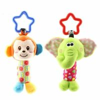 Hanging Plush Baby Toy Rattle Lovely Cartoon Animal Bell Newborn Stroller