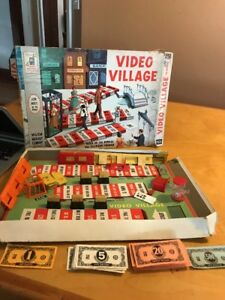 Vintage 1960 Video Village - CBS TV Show Board Game by Milton Bradley Not Comple