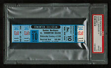PSA 10 QUEBEC NORDIQUES at the EDMONTON OILERS 1975 Unused WHA Ticket