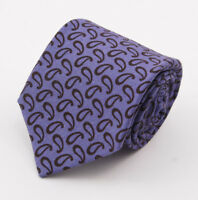 New $295 KITON NAPOLI 7-Fold Dusky Purple-Brown Paisley Print Wool Tie