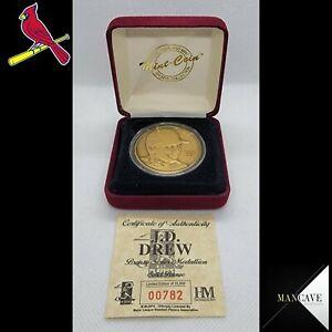 1998 Highland Mint J.D. Drew Bronze Art Medal St. Louis Cardinals /25000