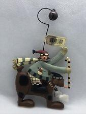 2003 Williraye Studios - Folk Art - Boy Riding Brown Dog Ornament Ww2462