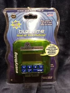 Cadaco Buzztime Head on Trivia Challenge Green Everything NEW Sealed