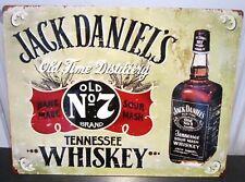 "JACK DANIEL'S  WHISKEY METAL SIGN, OLD No,7,  ,USA 16""x 12.5"" BAR/PUB/CAFE"