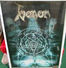 VENOM POSTER LIVE NEW 1999 ORIGINAL VINTAGE  DEATH BLACK METAL OUT OF PRINT