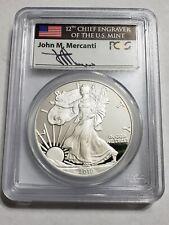 2010-W 1 Oz Silver $1 AMERICAN EAGLE John Mercanti's Signature PCGS PR69DCAM.