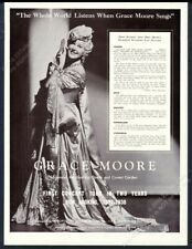 1937 Grace Moore photo singing recital tour booking trade print ad