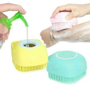 Silicone Bath Body Brush Shower Scrubber with Gel Dispenser Soft Massager Shower