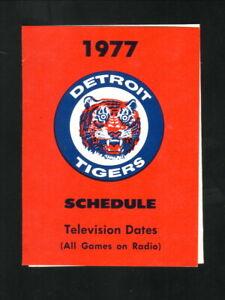 Detroit Tigers--1977 Pocket Schedule--WNEM