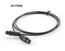 3ft Fiber Optical Toslink to Toslink 2.2mm Digital Audio Slim Type Cable