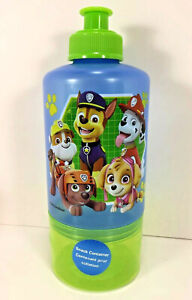 NEW Zak! PAW PATROL Water Bottle Attached Snack Container Travel Trip Cup Blue