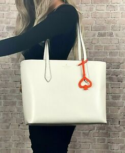 KATE SPADE NEW YORK BREANNA LEATHER TOTE SHOULDER BAG PURSE $329 White