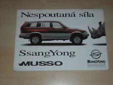 35276) Ssang Yong Musso Bastelbogen CZ Prospekt 199?