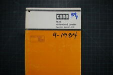 CASE W30 WHEEL LOADER Operation Maintenance Manual shop operator book GUIDE 1984