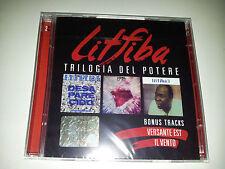 cd musica litfiba trilogia del potere ( desapareci + 17 re + litfiba 3 ) + bonus