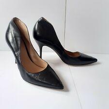Fauzian Jeunesse Heels EU 38 UK 5 Black Leather High Back Court Shoes 319000