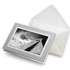 Greetings Card (Grey) BW - Chichen Itza Ancient Temple Mexico  #36445