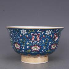 Collect China jingdezhen Porcelain Famille Rose Eight Auspicious Symbols Bowl