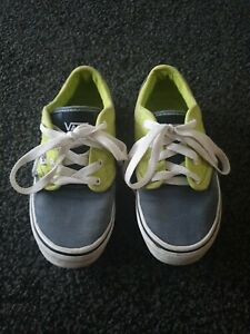 Vans Size 13 Kids Childrens Trainers Green Grey