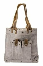 THE BARREL SHACK-THE SIMMONS-HANDMADE CANVAS/LEATHER SHOULDER BAG PURSE - NEW!