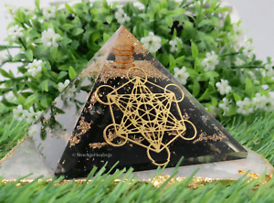 X-Large Shungite Metatron Cube Orgonite Pyramid ~ Orgone Organite EMF Protection