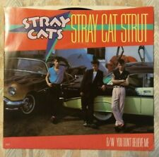 Stray Cats - Stray Cat Strut 1981 Picture Sleeve EMI label 45 rpm LOOKS UNPLAYED