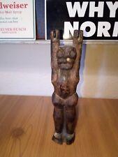 Antique 1800's Native American Hand Carved Wooden Sling Shot Bear Slingshot Rare