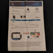 Ticket PDF Club Brugge Manchester City FC 19.10.2021 UEFA Champions League CL