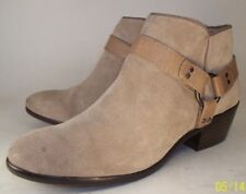 Sam Edelman PHOENIX Womens US 6M Beige Suede Harness Ring Zip-Up Low Ankle Boots
