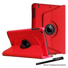 Housse Etui Rouge pour Apple iPad Air / Air 2 Coque Support Rotatif 360°