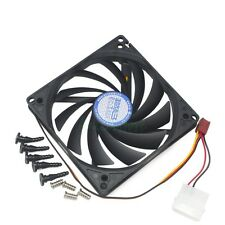 100mm & 90mm x 15mm Dual Holes Design Cooler Cooling Fan for HTPC Case PC CPU