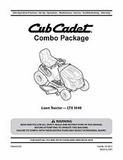 Cub Cadet  Model No. LTX-1040 Lawn Tractor Manuals COMBO Package