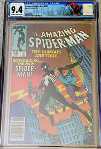 AMAZING SPIDER-MAN #252 CGC 9.4 OW/W ASM LABEL BLACK COSTUME NEWSSTAND (1984) NM