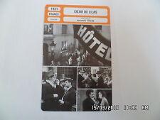 CARTE FICHE CINEMA 1931 COEUR DE LILAS Marcelle Romée André Luguet Jean Gabin