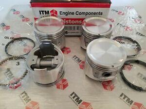Piston Set w/Rings +.020 - fits Datsun - L18 & L20B 510 - 620 - 610 - 710 - 720