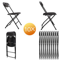 4-Pack/10-Pack Folding Plastic Chair for Home Office Wedding Party OutdoorIndoor