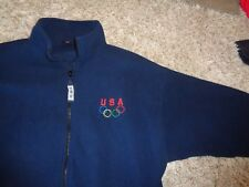 Men's fleece pullover by USA Olympic Size XL Blue