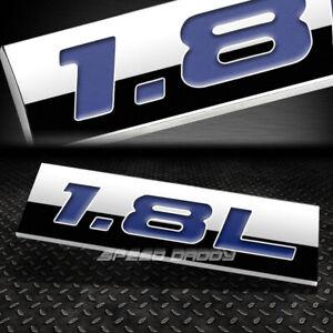 METAL EMBLEM CAR BUMPER TRUNK FENDER DECAL LOGO BADGE CHROME BLUE 1.8L 1.8 L