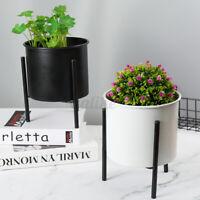 Desktop Metal Shelf Flower Pot Holder Plant Stand Display Indoor Garden Racks