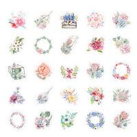 46pcs cute flower series paper sticker diy diary decor for album scrapbooking ME