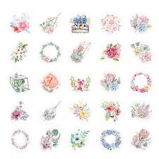 46pcs cute flower series paper sticker diy diary decor for album scrapbooking YH