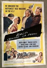 VINTAGE 1958 DAMN CITIZEN FOREIGN MOVIE THEATRE POSTER NATIONAL SCREEN SERVICE