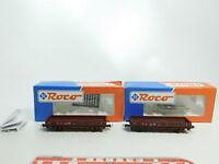 BI515-0,5# 2x Roco H0/AC Rungenwagen DB NEM: 323 0 196-0+323 0 274-5, NEUW+(OVP)