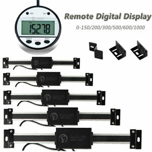 LCD Digital Readout Linear Scale Magnet Remote Display 0-150/200/300/600/1000mm