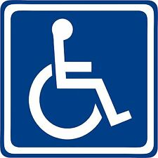 Disabled Sign Disability Mobility Car Parking STICKER / VINYL DECAL