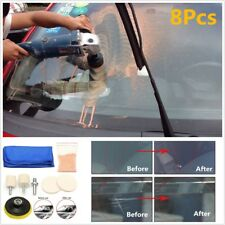 Auto Car Glass Polishing Kit Windscreen Windows Scratch Remover 8Pcs Repair Tool (Fits: Ford Aspire)