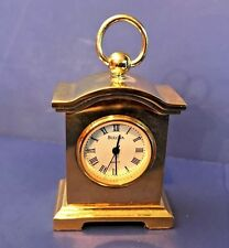 1994 Collectors BULOVA Miniature Solid Brass Carriage Clock Courrier B0506