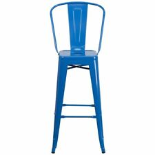 Flash Furniture CH-31320-30GB-BL-GG 30'' High Blue Metal Indoor-Outdoor Barstool